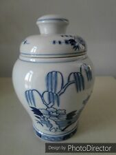 Meissen Porzellan Vase Deckelvase Blaues Dekor im chinesischem Stil 1Wahl 24cm