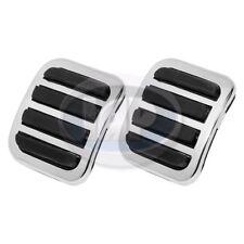 VW Beetle Bug Ghia Clutch / Brake Pedal Covers Chrome Pads PAIR AC721961