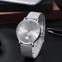 Women Fashion Stainless Steel Watch Mesh Bracelet Analog Quartz Casual Watches