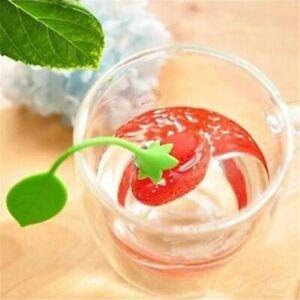 Tea Sets Silicone 1 Pc Loose Tea Leaf Strainer Herbal Spice Infuser Filter Tools