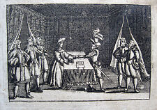 Pyrenäenfriede 1659 Kupferstich Pyrénées Firma del Tratado de los Pirineos Paz