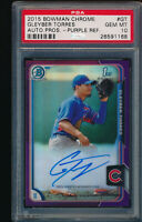 PSA 10 GLEYBER TORRES AUTO 2015 BOWMAN CHROME PURPLE REFRACTOR #/250 RC GEM MINT