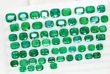 95 Ct /61Pcs FINE Natural Emerald Cushion Zambia Wholesale Parcel Loose GemStone
