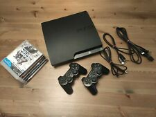 *ALL ORIGINAL* SONY PLAYSTATION 3 PS3 BUNDLE - 2 CONTROLLERS, 5 GAMES - TESTED