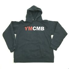 YMCMB Hoodie Size S Young Money Entertainment Black Long Sleeve Pullover Sweater
