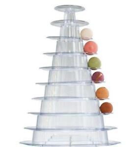 1pcs 10 Tier Macaron Tower Display Stand for French Macarons