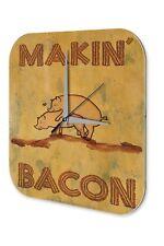 Rétro Décoration Horloge murale   Porcs Bacon de herzelnde Makin Acrylglas