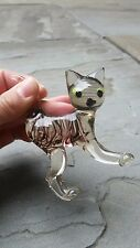 Vintage Murano Glass Cat Figurine Cool Cat lovers Collectible Art NR Look!