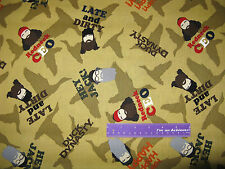 DUCK DYNASTY Faces Happy Hey Jack Redneck CEO Cotton Fabric BY THE HALF YARD