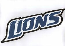 "HUGE DETROIT LIONS IRON-ON PATCH - 4"" x 12"""