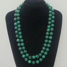 New Long 8mm Green Malachite Gemstone Bead Round necklace 36 Inch