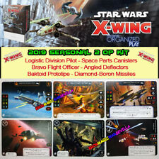 STAR WARS X-WING 2.0 - 2019 SEASONAL TWO OP KIT - 6 Promo Cards Full Art - New