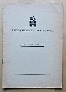 Der Freischutz programme Freilichtspiele Tecklenburg 1954 Germany Willi Knizia