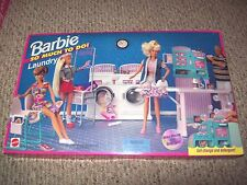 EXTREMELY RARE NEW NIB BARBIE SO MUCH TO DO LAUNDRY MAT