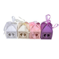 10/50/100 PCS Luxury Wedding Party Sweets Cake Candy Gift Favour Favors Box DSUK