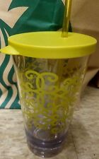 NEW 16 oz Starbucks Tazo cold cup w/green lid and matching green straw  HTF