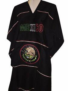 Premium Warm Mexican Flag Zarape Mexican Poncho Gaban Heavy Blanket Cape Ruana O