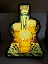Large Htf Rare Vintage Anheuser Busch Budweiser Beer Advertisting Lighted Sign