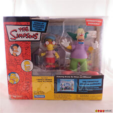The Simpsons Krustylu Studios Diorama with Krusty the Clown and Milhouse - worn
