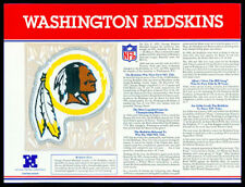 WASHINGTON REDSKINS ~ NFL TEAM EMBLEM PATCH COLLECTION STAT CARD Willabee & Ward