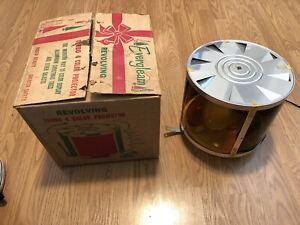 Vintage 1950's Evergleam Aluminum Christmas Tree Color Wheel Motion Lamp