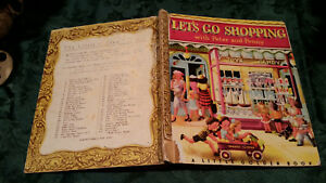 LET'S GO SHOPPING WITH PETER AND PENNY vintage LITTLE GOLDEN BOOK Lenora Combes