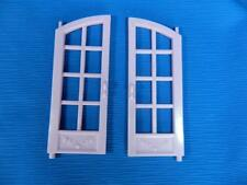 """Fisher Price Loving Family Twin Time Dollhouse Curved 6"""" French Doors Set"""