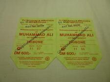 RARE MILITARY ISSUED SET MUHAMMAD ALI VRS RICHARD DUNN , 24/5/1976 , TICKET STUB