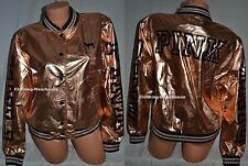 Victoria's Secret PINK 2016 Fashion Show Rose Gold Bomber Jacket Coat M/L NEW