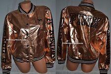 Victoria's Secret PINK 2016 Fashion Show Rose Gold Bomber Jacket Coat XS/S NEW