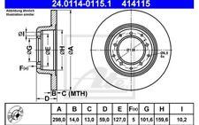 ATE Juego de 2 discos freno 298mm Para LAND ROVER DEFENDER 24.0114-0115.1