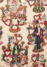 Alexander Henry Folklorico 8429A La Vida (Smaller Scale Print) Cotton Fabric BTY