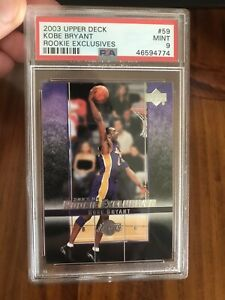 2003-04 Upper Deck Rookie Exclusives Kobe Bryant #59 PSA 9