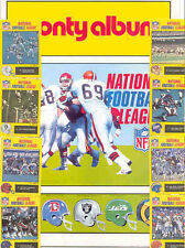 1988 MONTY GUM NFL STICKER ALBUM MARINO MONTANA PAYTON