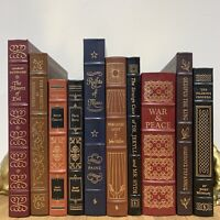 EASTON PRESS LOT OF 10 - Leather - Includes 100 Greatest - Tolstoy Milton MORE