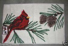 Yuletide Cardinal w/pinecones Bath Kitchen Throw Rug Mat 20x30 Nip $25