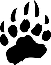 "Bear Paw Vinyl Decal ""Sticker"" For Car or Truck Windows, Laptops, etc"