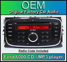 Ford 6000 CD MP3 player, Ford Mondeo car stereo headunit with Radio Code