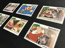 """Anguilla, 1981 Disney """"The Night Before Christmas"""" Stamps MNH. Sn:AI 453 to 458"""