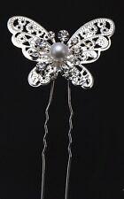 Womens Boho Crystal Fairy Butterfly hair accessory Styling Bobby U Pin Clip