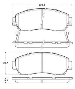 StopTech For Honda Odyssey, CR-V, Acura RDV / Disc Brake Pad Set Front 308.10890