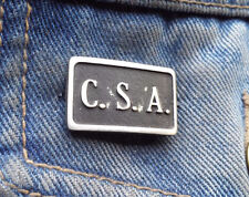 C.S.A Confederate States of American Pewter Pin Badge