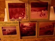 5 vtg 1960's slides Vancouver, BC golf, Peace Arch, Howe Sound Capilano Bridge++
