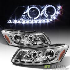 For 2008-2012 Honda Accord Sedan Projector Headlights w/LED DRL Running Lights