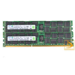 Samsung 2x 16GB 2RX4 PC3L-12800R DDR3L-1600MHz CL11 ECC REG Server RAM Memory 32