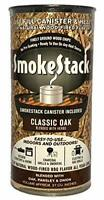 SmokeStack Fine Ground Classic Oak Wood Chips and BBQ Grill Smoker Canister Box