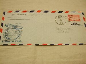 1941 U.S Air Mail Miami, Florida to Lagos, Africa