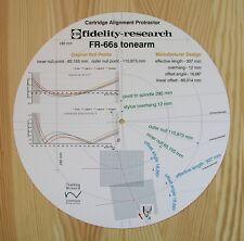 FIDELITY Research FR-66S personalizzato progettato BRACCIO CARTUCCIA allineamento Goniometro