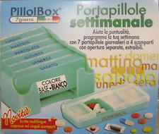 Porta pillole settimanale Pillol box 7 giorni 4 scomparti estraibili