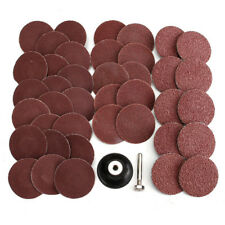 40pcs 2 Inch Roll Lock Sanding Disc 40/80/120/240 Grit Abrasive Tool With